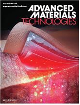 그림 1. Advanced MaterialsTechnologies 5월호 표지논문(Front Cover)플렉시블 기능성 박막들(플렉시블, OLED·배터리·패치·히트싱크)의 적층으로 이루어진웨어러블 광치료 패치가 피부에 부탁한 상태로 PBM에 의한상처치유가 가능함을 보여주는그림.